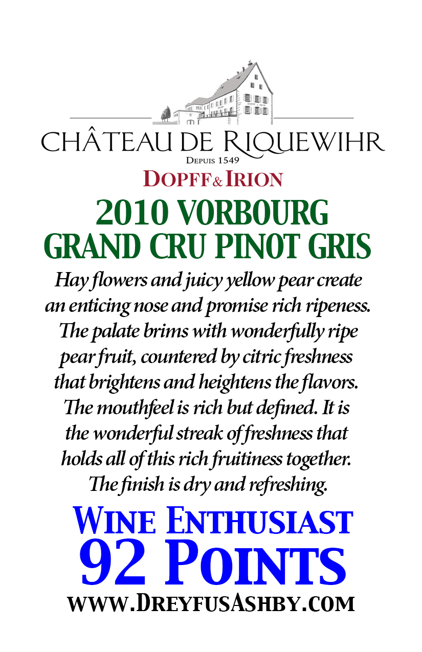 Dopff irion dreyfus ashby co purveyors of fine wines vorbourg grand cru pinot gris stopboris Gallery